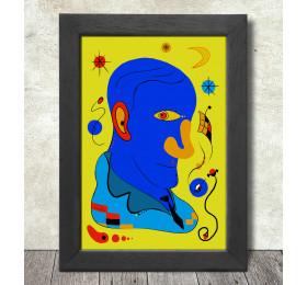 Joan Miró Portrait Poster Print A3+ 13 x 19 in - 33 x 48 cm