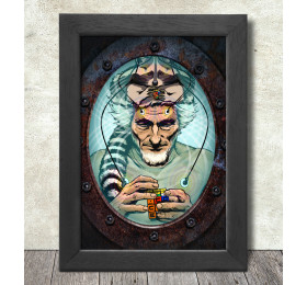 John C. Lilly Floating Poster Print A3+ 13 x 19 in - 33 x 48 cm by rosenfeldtown