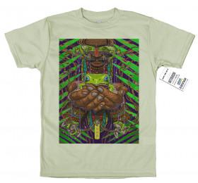 Green Tree Frog T shirt Artwork by rosenfeldtown, Hyla cinerea, Kambo