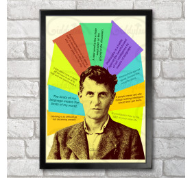 Ludwig Wittgenstein -Quotes Design Poster Print A3+ 13 x 19 in - 33 x 48 cm
