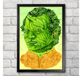 Gregor Mendel Poster Print A3+ 13 x 19 in - 33 x 48 cm Father of Genetics, Psychedelic
