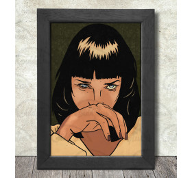 Mia Wallace Poster Print A3+ 13 x 19 in - 33 x 48 cm #Pulp Fiction #Uma Thurman