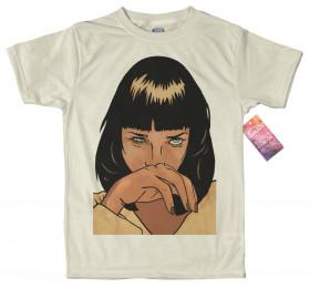 Mia Wallace T shirt Artwork, #Pulp Fiction #Uma Thurman