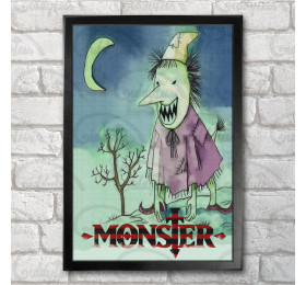 The Nameless Monster Poster Print A3+ 13 x 19 in - 33 x 48 cm Naoki Urasawa