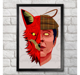 Nasty Poster Print A3+ 13 x 19 in - 33 x 48 cm, Tories, Fox, The Prodigy Inspired