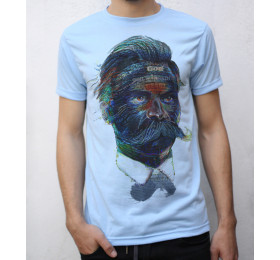 Friedrich Nietzsche T shirt Artwork, neon vs