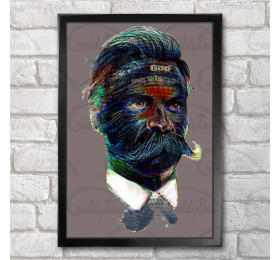 Friedrich Nietzsche Quotes Portret Poster Print A3+ 13 x 19 in - 33 x 48 cm