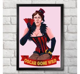Oscar Gone Wilde Poster Print A3+ 13 x 19 in - 33 x 48 cm