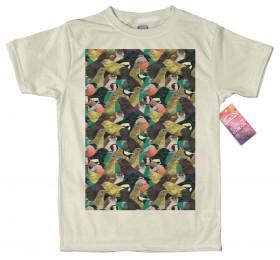 Garden Birds Pattern T shirt Artwork