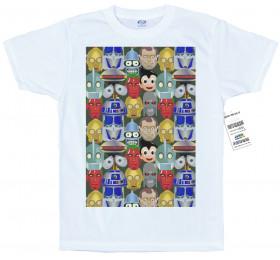 Good Robots Pattern T Shirt Artwork