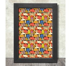 Mushrooms Pattern Poster Print A3+ 13 x 19 in - 33 x 48 cm