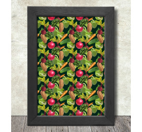 Vegetables Pattern Poster Print A3+ 13 x 19 in - 33 x 48 cm