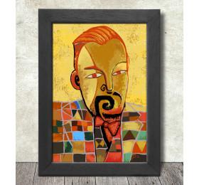 Paul Klee Portrait Poster Print A3+ 13 x 19 in - 33 x 48 cm