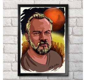Philip K Dick Poster Print A3+ 13 x 19 in - 33 x 48 cm