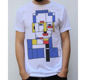 Piet Mondrian Portrait T shirt Artwork