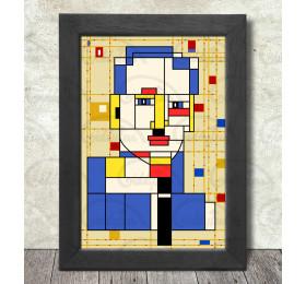 Piet Mondrian Portrait Poster Print A3+ 13 x 19 in - 33 x 48 cm