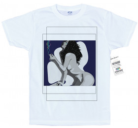 Smoking Rainbow T shirt Artwork by Astefi