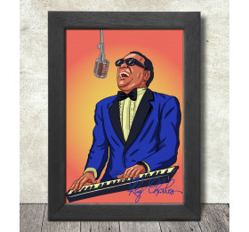 Ray Charles Poster Print A3+ 13 x 19 in - 33 x 48 cm
