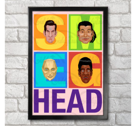 Smeg Head  Poster Print A3+ 13 x 19 in - 33 x 48 cm Red Dwarf Inspired