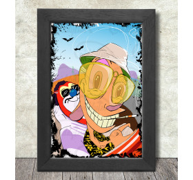Fear and Loathing with Ren and Stimpy  Poster Print A3+ 13 x 19 in - 33 x 48 cm Las Vegas