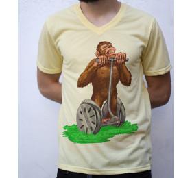 Chimp on Segway T shirt Artwork
