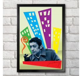 Serge Gainsbourg Poster Print A3+ 13 x 19 in - 33 x 48 cm