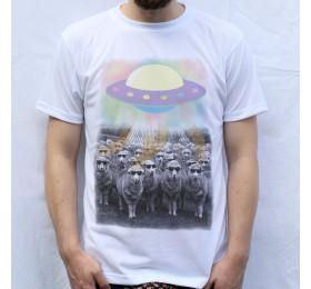 Cool Sheep Abduction Design T Shirt