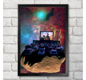 Asteroid Cinema  Poster Print A3+ 13 x 19 in - 33 x 48 cm Space Collages