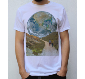 The Earth Path T shirt Design, Space Collages