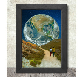 The Earth Path Poster Print A3+ 13 x 19 in - 33 x 48 cm Space Collages