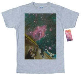 Space Station T shirt Design, Space Collages