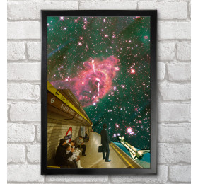 Space Station Poster Print A3+ 13 x 19 in - 33 x 48 cm Space Collages