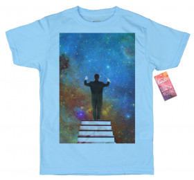 Stars Conductor T shirt Design, Space Collages