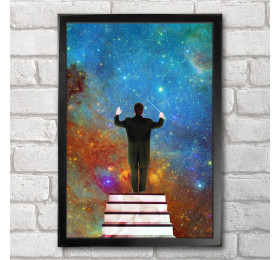 Stars Conductor Poster Print A3+ 13 x 19 in - 33 x 48 cm Space Collages
