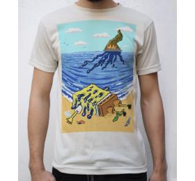 SpongeOil T shirt Artwork, Petroleum, oil carrier, spongebob