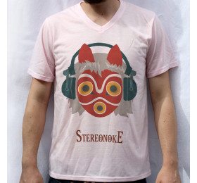 Princess Stereonoke T shirt Artwork, Studio Ghibli, Mononoke, Mask, Parody