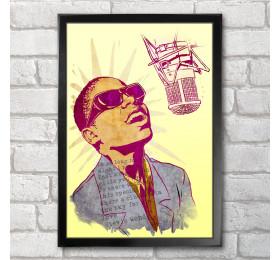 Stevie Wonder Poster Print A3+ 13 x 19 in - 33 x 48 cm