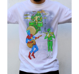 Superstar Heroes T shirt Artwork, Captain Planet, Tommy, Michelangelo