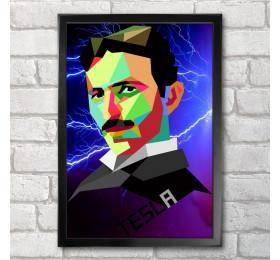 Nikola Tesla Poster Print A3+ 13 x 19 in - 33 x 48 cm