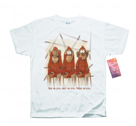 Three Wise Monkeys Design T Shirt by KykyMyky