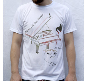 The Piano Has Been Drinking Design T-Shirt Tom Waits