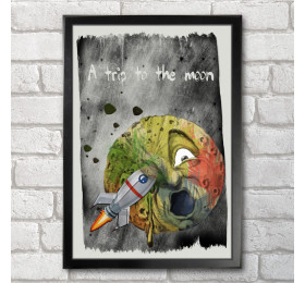 A Trip to the Moon Poster Print A3+ 13 x 19 in - 33 x 48 cm