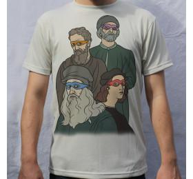 Turtles vs The Masters Artwork T-shirt