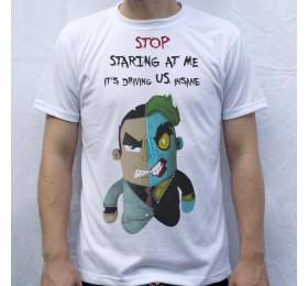Two Face Artwork T Shirt