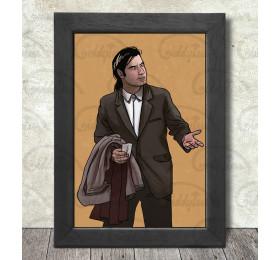 Vincent Vega Poster Print A3+ 13 x 19 in - 33 x 48 cm #Pulp Fiction #John Travolta #Confusion Meme