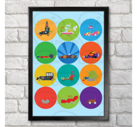 The Great Race Poster Print A3+ 13 x 19 in - 33 x 48 cm Wacky Races