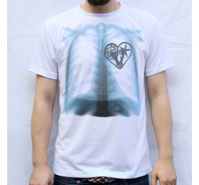 X-ray Crank Heart T-Shirt Design