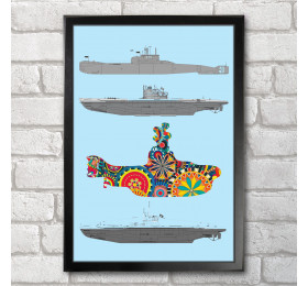 Submarines Poster Print A3+ 13 x 19 in - 33 x 48 cm